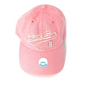 MLB Red Sox Baseball Pink Cap Hat